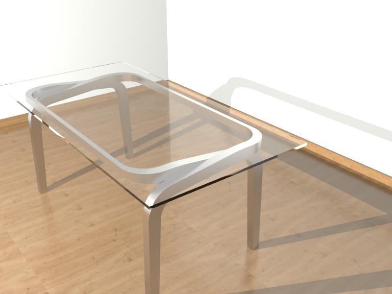 Mesa de cristal con patas de acero inoxidable car - Patas para mesa de cristal ...